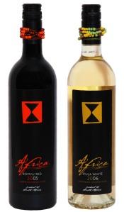 africa wines - bomvu red, ifula white