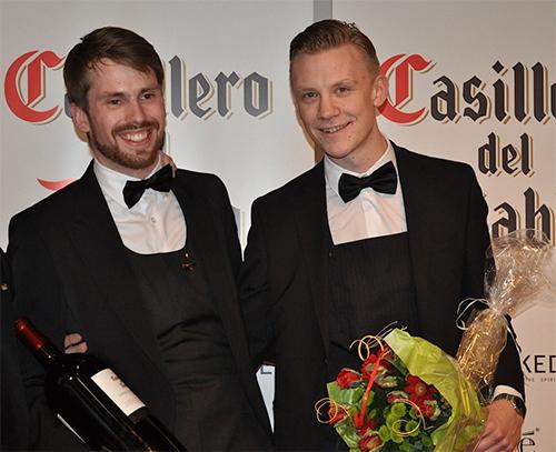 Förra årets vinnare Arvid Rosengren till vänster