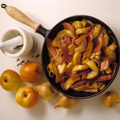 Traditionellt äpplefläsk. Bild från svensktkott.se